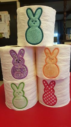 Easter applique toilet paper