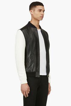 A.P.C. BLACK LEATHER & Linen LOUIS WONG Edition Jacket