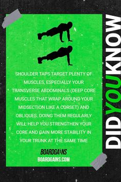 Did you know? Fun fitness fact of the day.
