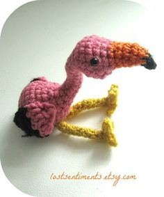 Flamingo Amigurumi - $5.00 by Dawn Pearson