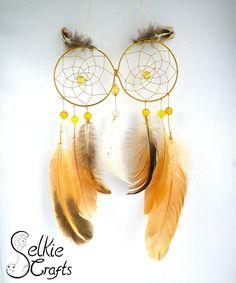 Yellow Owl Dream catcher.