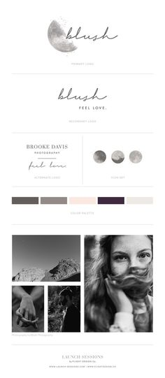 Brooke came to us wanting a brand that felt emotional, real and moody. She had been daydreaming of incorporating the moon but wanted to embrace the shadows as much as the light. | Logo, Branding & Style Guide by Launch Sessions of Flight Design Co.