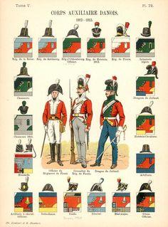 Дания 1812 - 1813 Союзные войска. Uniformes de I'Armee Francaise 1690-1894 Lienhart & Humbert