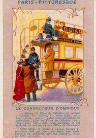 Des petits métiers à Paris en 1900, l'omnibus
