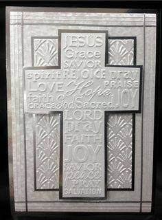 "Christian Cross  EMBOSSING FOLDER 4-1/4 x 5-3/4"". Sells for 6.99. Sold separately are the other items used in the examples. Made by Art Impressions Rubber stamps. You can purchase all items in my ebay store: Pat's Rubber Stamps & Scrapbooks, Click on the picture & see the listing , or call me 423-357-4334 with order, We take PayPal. You get FREE SHIPPING ON PHONE ORDERS of $30.00 or more. If it says sold I have more. Use my search engine to find the items you are interested in"