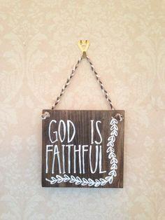 God is Faithful Original Wooden Sign on Etsy, $12.00