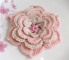 Hey, I found this really awesome Etsy listing at https://www.etsy.com/listing/165099335/crochet-flower-in-3-inches-in-lt-pink