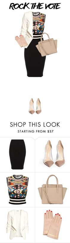 """""""Rock the Vote in Style"""" by anaiara ❤ liked on Polyvore featuring Gianvito Rossi, Givenchy, Salvatore Ferragamo, H&M and Undercover"""