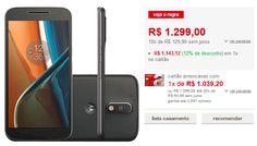 Smartphone Moto G 4 Dual Chip Android 6.0 Tela 5.5'' 16GB Câmera 13MP >