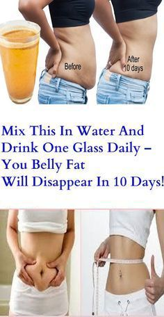 Mix This In Water And Drink One Glass Daily – You Belly Fat Will Disappear In 10 Days!