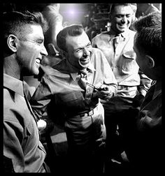 Burt Lancaster and Frank Sinatra on the set of From Here To Eternity