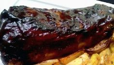 Costelinha glaceada no molho barbecue (Ribs on the barbie - na airfryer)