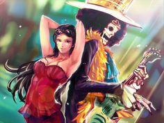 One Piece, Straw Hat Pirates, Brook, Robin