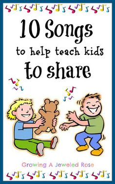 10 songs to help teach kids to share growing a jeweled rose - The world's most private search engine Preschool Music, Preschool Classroom, Toddler Preschool, Manners Preschool, Kindergarten, Music Education, Childhood Education, Kids Education, Education Center