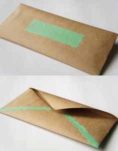 I like the rawness of this one and the craft paper with that color of green.