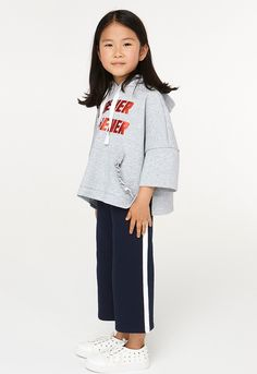 2-Piece Solid Hoodie And Pants Set