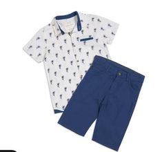 If you want your kid to #look #cute and #charming, then this #baby #boy #navy #blue #outfit is a must-have #item for your #kid's #wardrobe. Add to your cart now! Boys Clothes Online, 2 Piece Outfits, Must Haves, Bermuda Shorts, Cart, Baby Boy, Navy Blue, Kids, Fashion