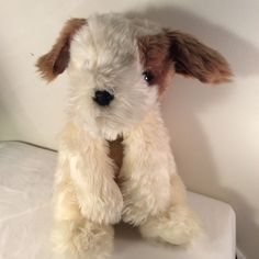 "1995 Ty Beanie Classic PATCHES PUPPY DOG Plush Stuffed Toy Brown White 18"" Long #Ty"