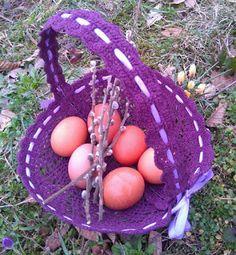 Elvesztetted a fonalat? Itt megtalálod! Kézimunkasuli: Horgolt húsvéti kosárka