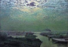 "Adriaan Jozef Heymans -""Sky with moonlight"" (1907) Royal Museum of Fine Arts, Brussels, Belgium Adriaan Jozef Heymans (or Adrien-Joseph Heymans; 11 June 1839, Antwerp - December 1921, Brussels) was a Belgian impressionist landscape painter."