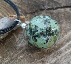 Necklace.   African turquoise.