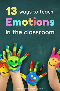 "Teach children about emotions with activities to identify, express, and manage their feelings appropriately in school and the primary (kindergarten, first, second, and third grade) and preschool classrooms. Use tools, such as an ""I feel"" chart for kids that helps kids identify their feelings and develop emotional and self-awareness skills. Grab a FREE heart map printable for a fun classroom activity. This is a powerful step towards self-regulation, self-control, and a positive mindset… Teaching Respect, Teaching Emotions, Teaching Social Skills, Social Emotional Learning, Teaching Kids, Fun Classroom Activities, Preschool Classroom, Creative Activities, Learning Activities"