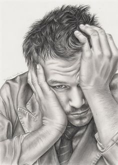 Heath Ledger #Australia #celebrities #sketch #HeathLedger Australian celebrity Heath Ledger sketch