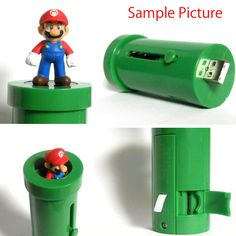 Super Mario Bros. Clay Pipe Type Micro SD Card Reader Taito JAPAN FAMICOM NES