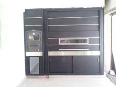 Cerramiento/frente/puerta Guillotina Para Parrilla - $ 18.500,00 en Mercado Libre Parrilla Interior, Locker Storage, Grilling, Sweet Home, New Homes, Doors, Cabinet, Santa Marta, Smokers