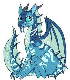 Tsunami is so Cute tsunami est si mignonne ^^ Wings Of Fire Dragons, Got Dragons, Fantasy Creatures, Mythical Creatures, Aliens, Manga Dragon, Fire Fans, Fire Book, Beautiful Dragon