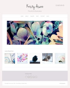 A fabulous artist running her website on an Angie Makes Wordpress theme. Love her work and site!