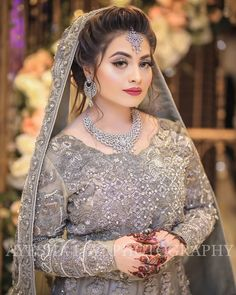 Image may contain: one or more people and people standing Bridal Mehndi Dresses, Pakistani Bridal Makeup, Pakistani Wedding Outfits, Bridal Dress Design, Pakistani Wedding Dresses, Wedding Dresses For Girls, Bridal Outfits, Bridal Style, Bridal Makeup Images