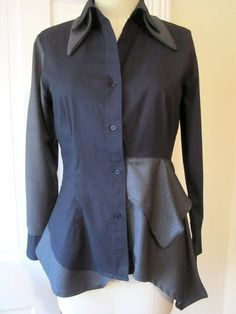 BREATHE  Menswear asymmetric shirt by Breathe1960 on Etsy, $125.00  I like this mash up.