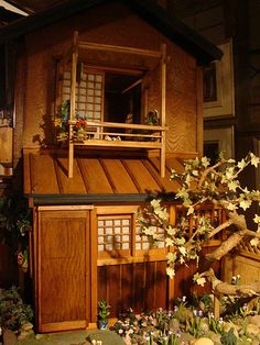 Japanese doll house, the moon viewing porch | Flickr - Photo Sharing!