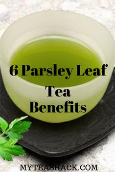 Drinking Parsley Tea is the easiest and most effective way to get all the wonderful benefits of this herb.  It is a plant that is given very easy and can be found in almost any garden.  You can even cultivate it in your window whenever you water it continuously.  The parsley plant has small white flowers that come out in clusters with small seeds.