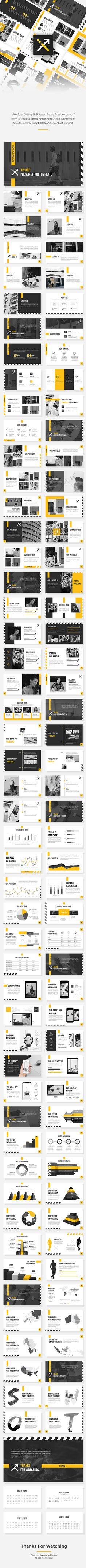 XPlore - StartUp PowerPoint Template - Pitch Deck PowerPoint Templates