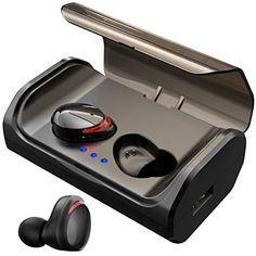 7156b75a35c HolyHigh Auriculares Bluetooth 5.0 3000mAh CVC8.0 Cascos Bluetooth  Inalámbricos IPX5 Impermeable con Micrófono y
