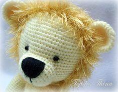 leon amigurumi tejidos thina Lions, Giraffe, Needlework, Projects To Try, Crochet Hats, Teddy Bear, Kitty, Knitting, Pattern
