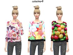 Candy Sweater Set at Cute Sims4 via Sims 4 Updates