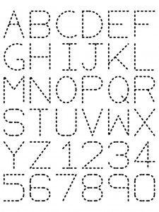Traceable Alphabet- Find the symmetry lines for each word! | Math | Preschool worksheets, Preschool writing, Alphabet worksheets