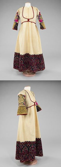 Albanian, fourth quarter century, Brooklyn Museum Costume Collection at The. Costume Collection, Folk Costume, Costume Design, Traditional Outfits, The Dreamers, 19th Century, Boho Chic, Brooklyn, Summer Dresses