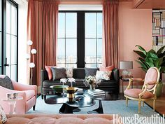 Blush with Black Furniture