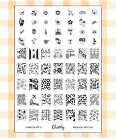 Nouvelle collection 2013 de Stamping Nail Art Kit / Set d'accessoires pour manucure / pedicure pour déco d'ongles par Cheeky. Plaque Jumbo N...