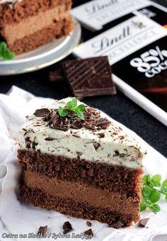 Tort straciatella z musem czekoladowym