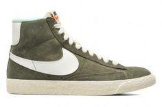 vendita online Nike Blazer Mid Scamosciate Vintage Sneakers Donne Carico Kaki/Vela In Offerta