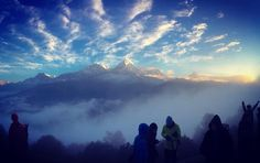 """""""The beautiful mountains seen from Poon Hill, Nepal! What a wonderful world, this is such an amazing view! Thanks @_you_know_who__  for sharing this with…"""""""