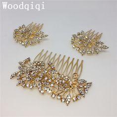 Woodqiqi 3pcs wedding hair accessories bridal accessori capelli sposa peinetas y accesorios para peinados peigne cheveux femme