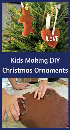 A great Christmas project to include your kids in making DIY Christmas ornaments. via @pursueproject