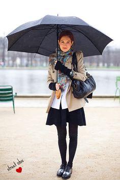 como se vestir em um dia de chuva