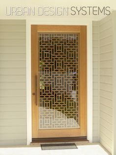 Ideas For Metal Screen Facade Mesh Main Entrance Door Design, Door Gate Design, Wooden Door Design, Front Door Design, Wooden Doors, Door Grill, Grill Door Design, Pooja Room Door Design, Door Design Interior